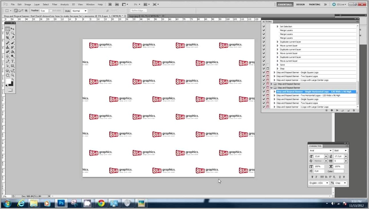Step And Repeat Template Illustrator