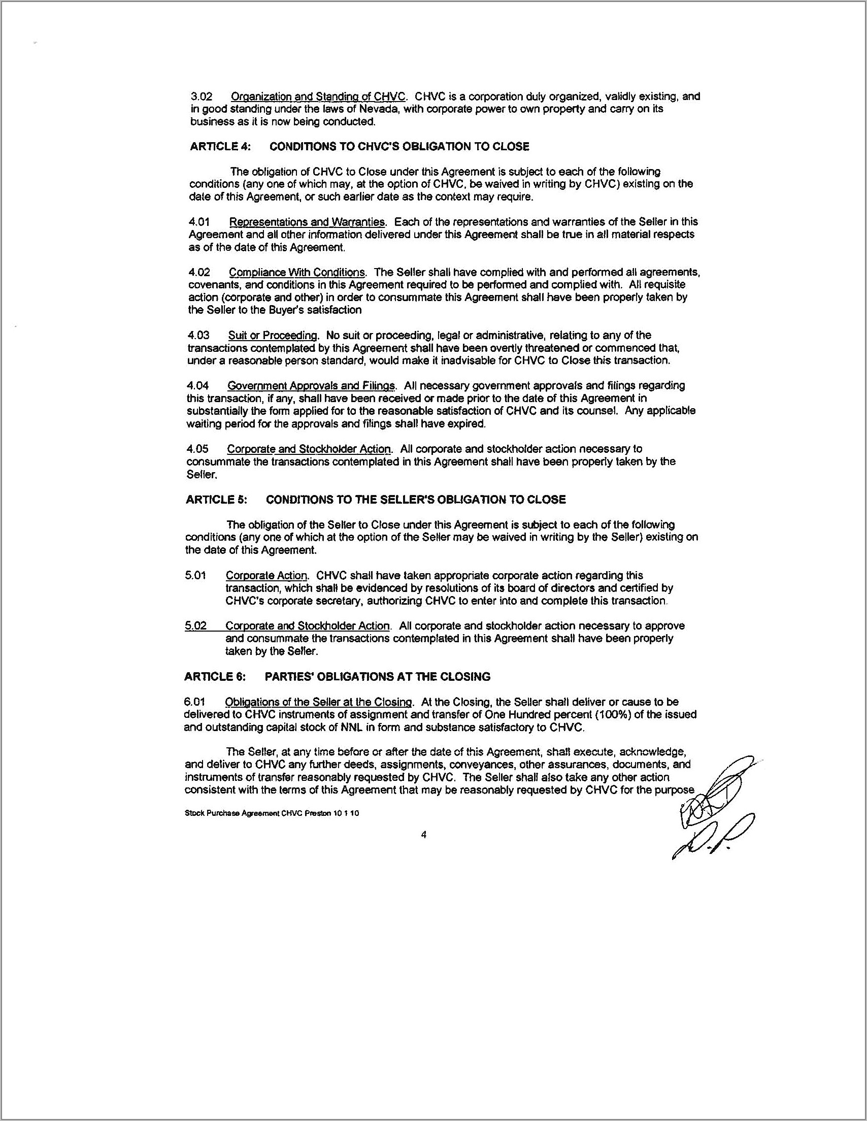 Stock Purchase Agreement Form