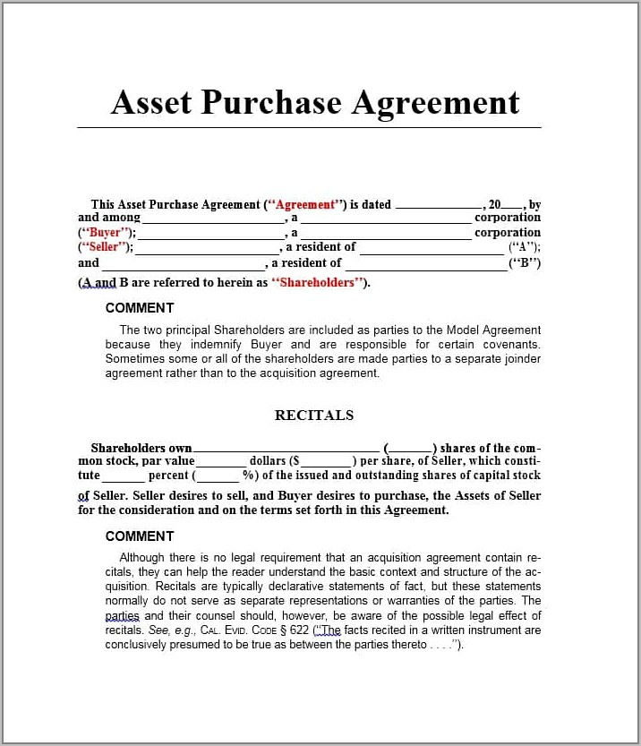 Stock Purchase Agreement Sample Free