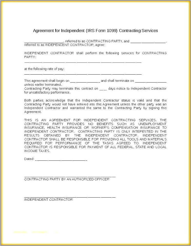 Subcontractor Agreement Template Free Nz
