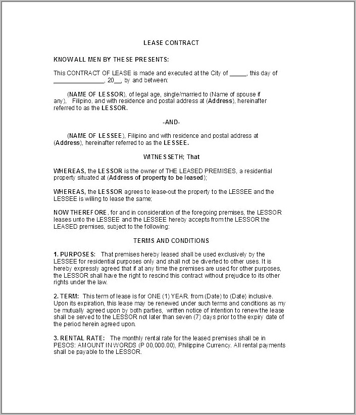 Sublet Contract Template Denmark