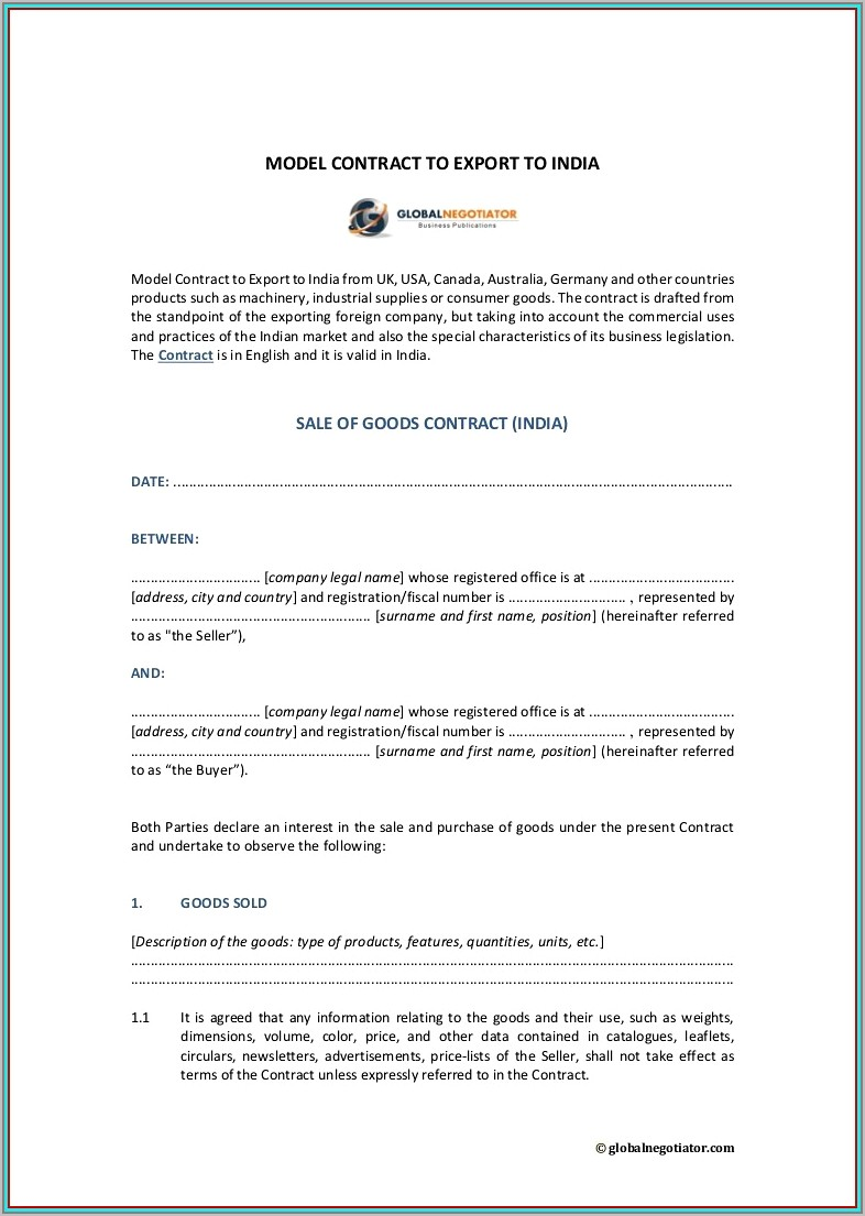 Subletting Contract Template Sweden