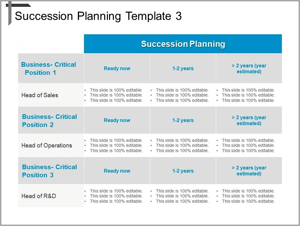 Succession Planning Template Ppt