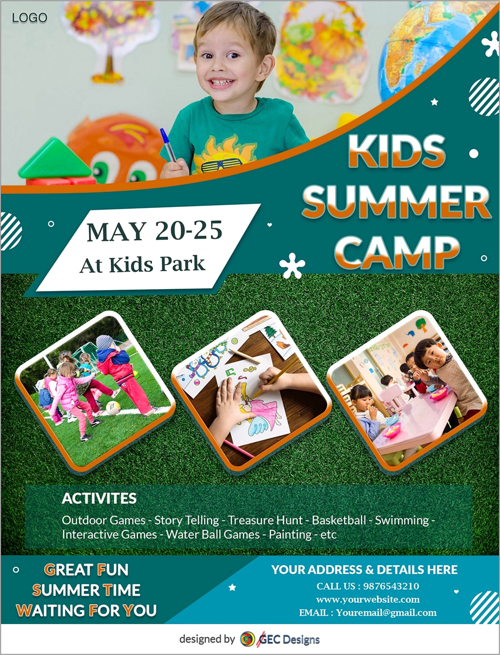 Summer Camp Flyer Template Free Word