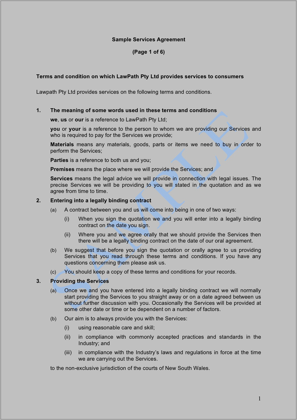 Supply Agreement Template Free