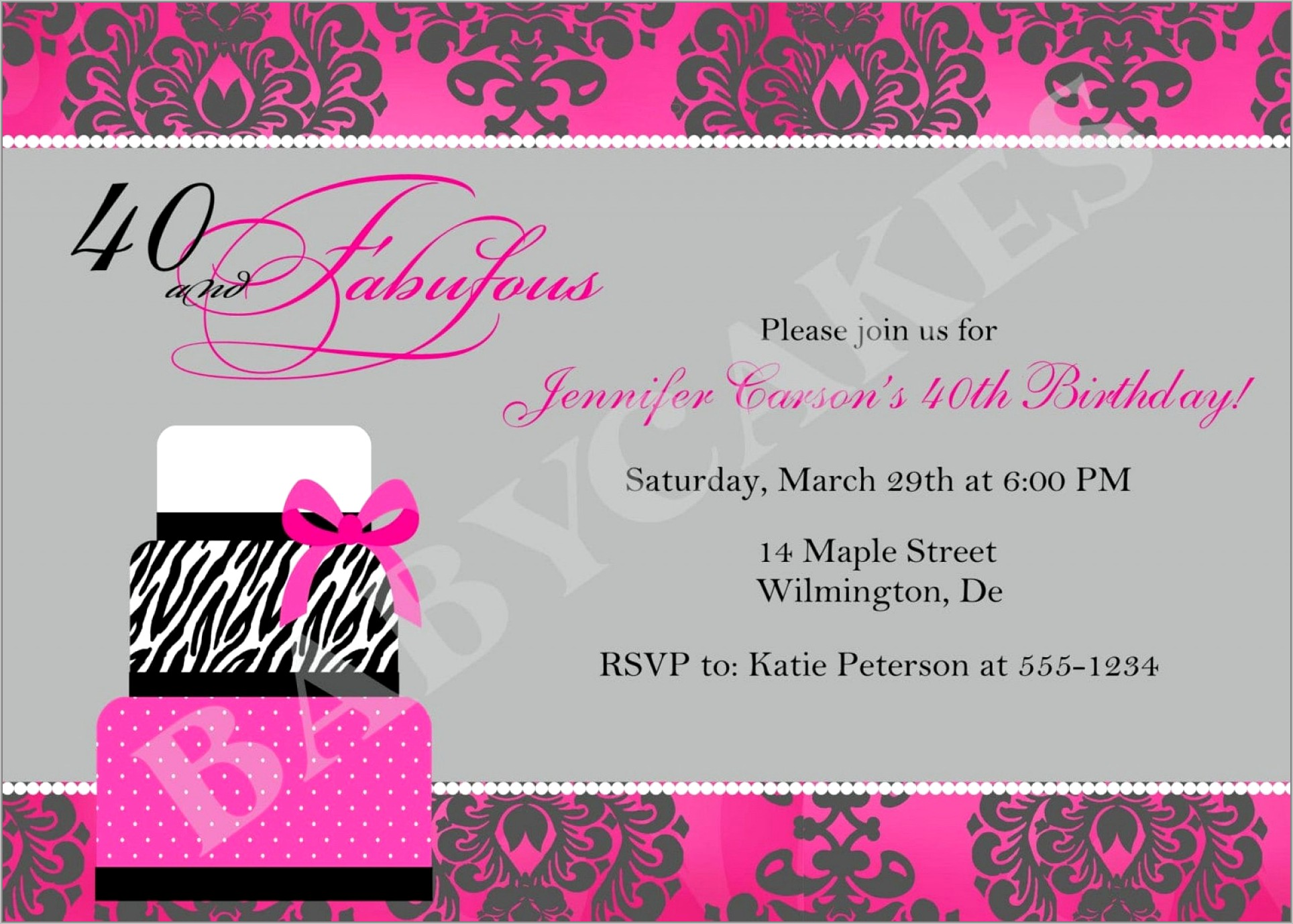 Surprise 40th Birthday Invitation Template