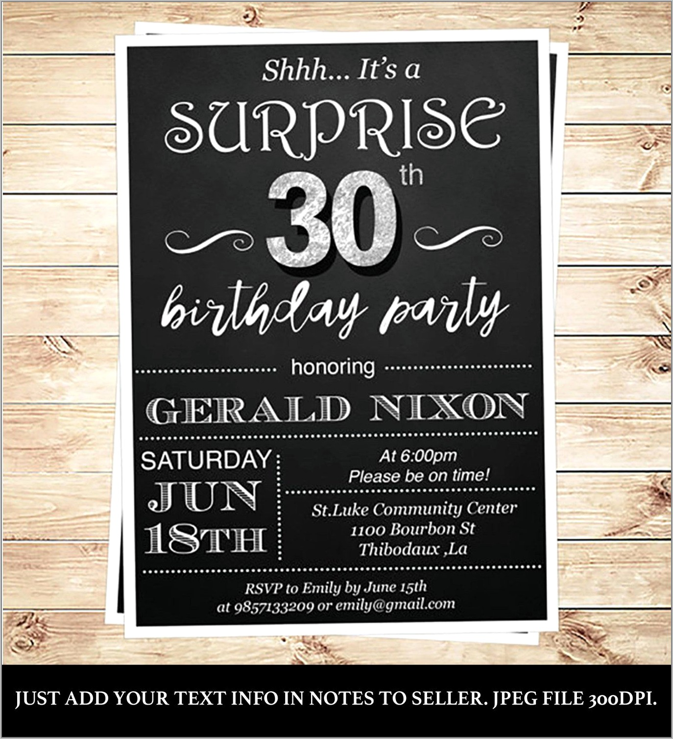 Surprise 40th Birthday Invitations Templates