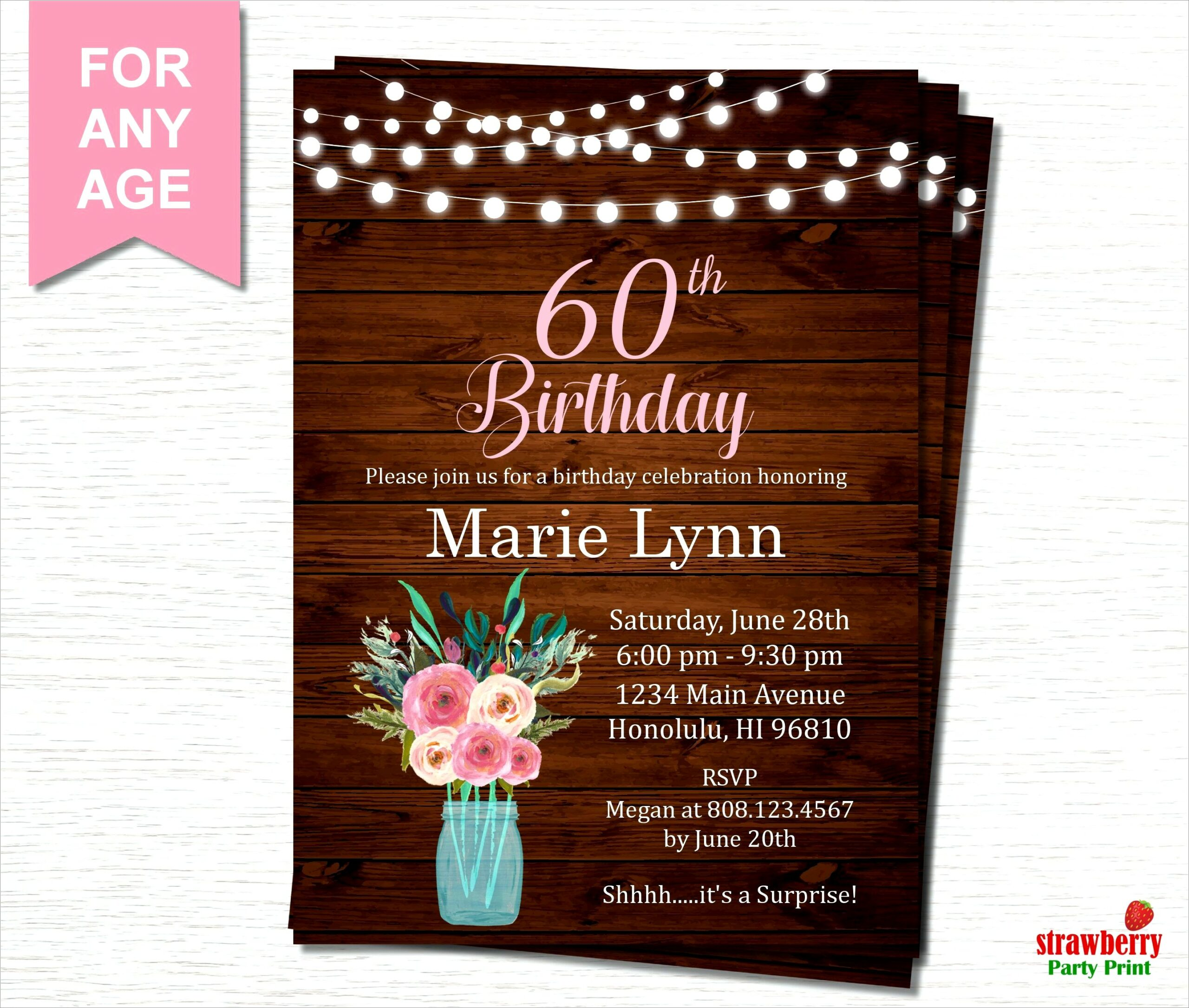 Surprise 60th Birthday Invitations For Her Scaled