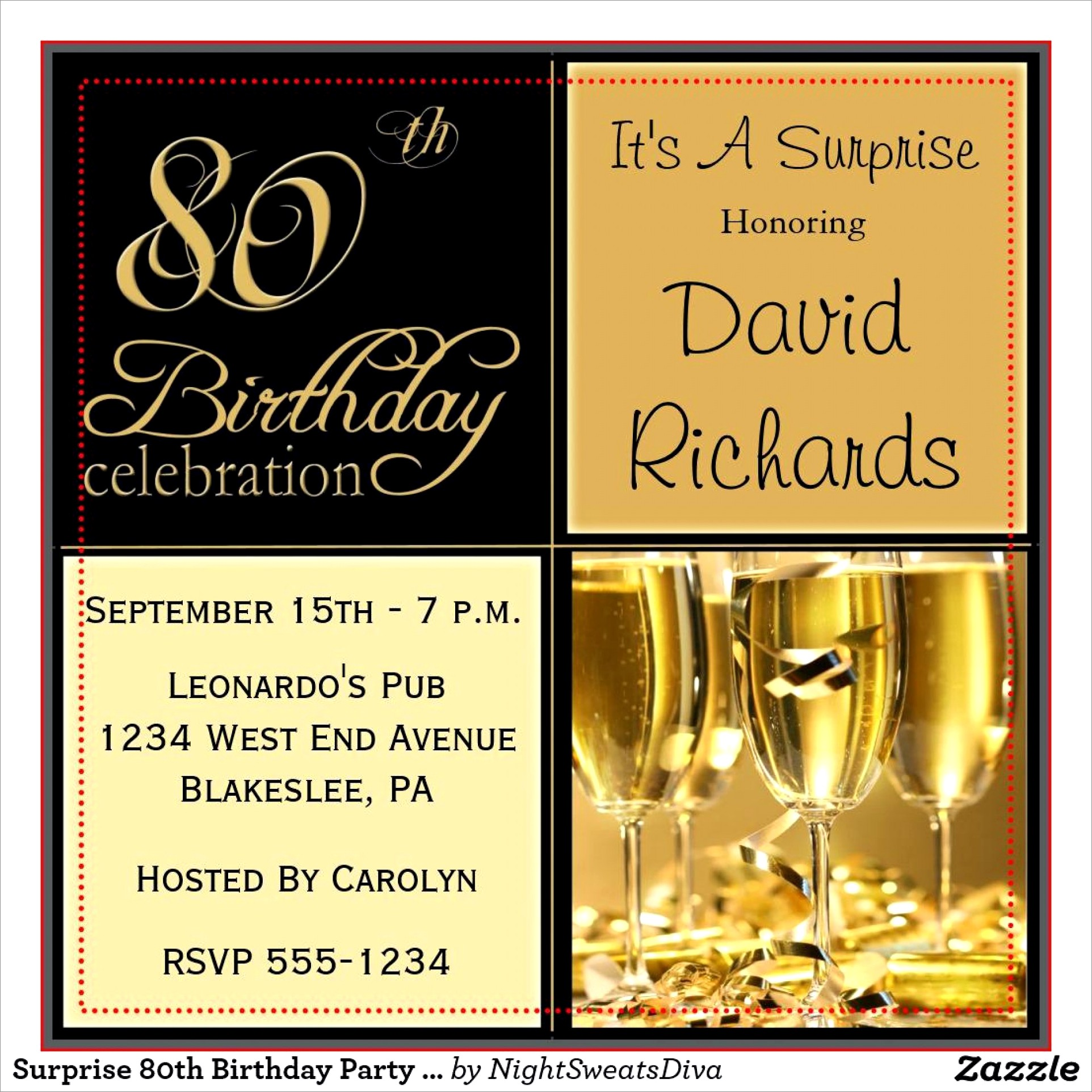 Surprise 80th Birthday Invitation Wording