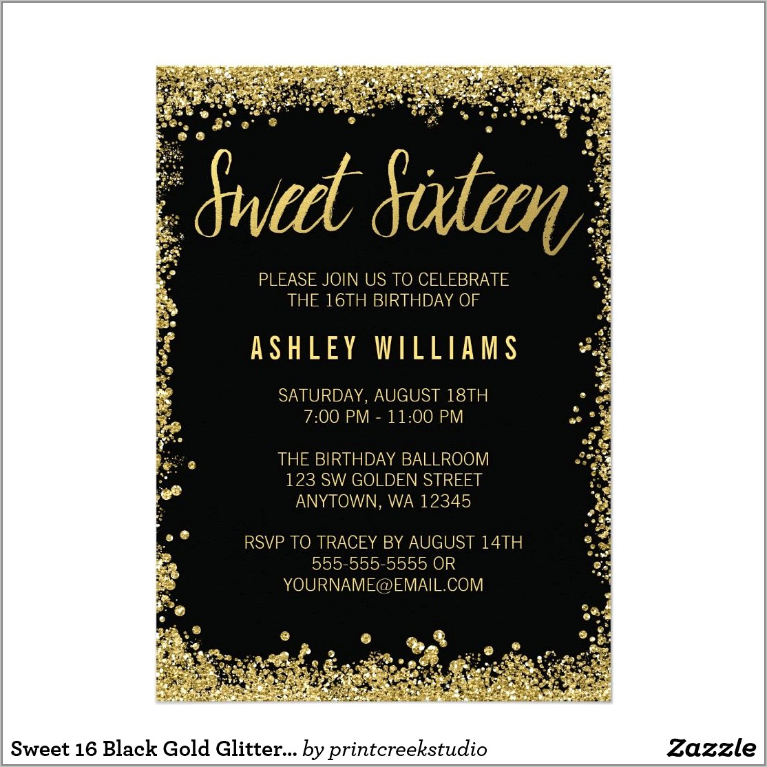 Sweet 16 Invitation Designs