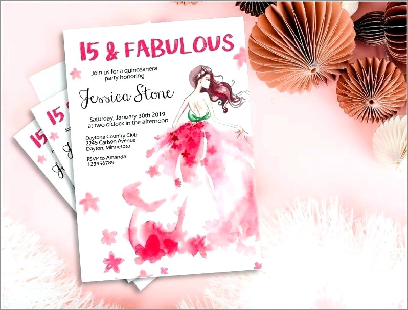 Sweet Fifteen Invitations Cards