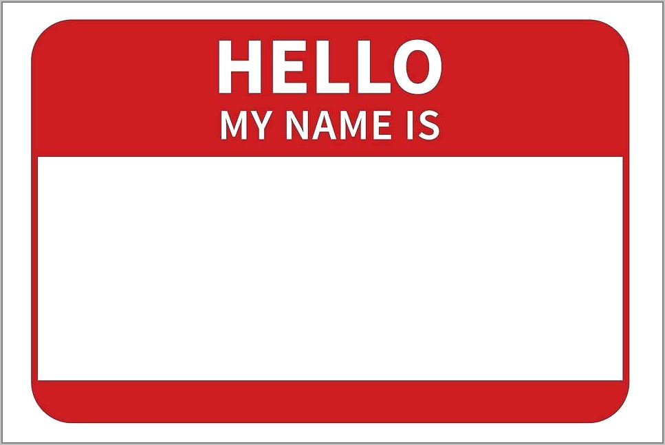 Target Employee Name Tag Template