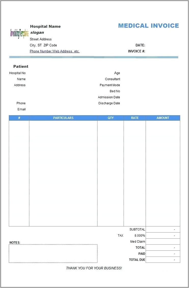 Tax Invoice Template Word Doc South Africa