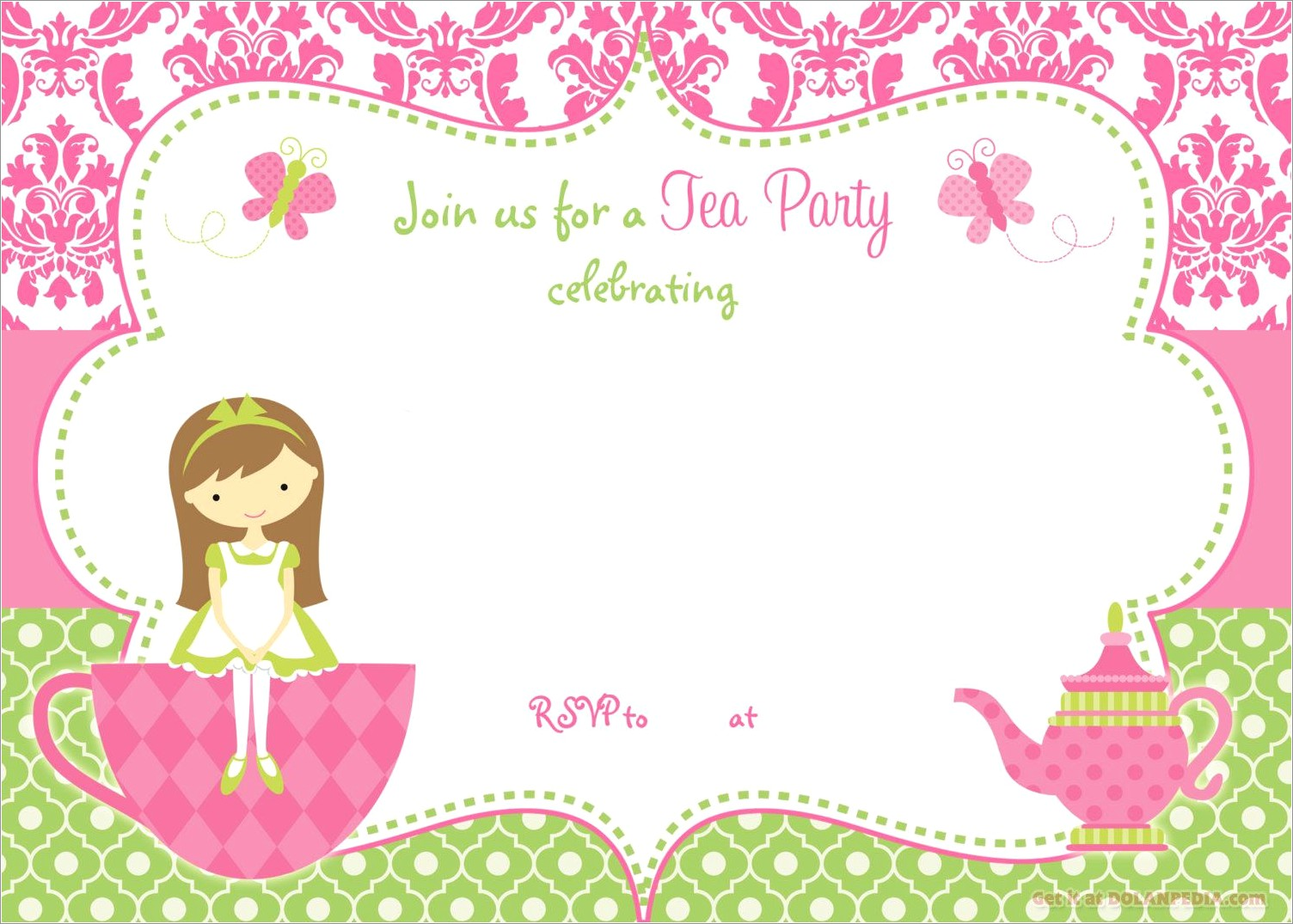Tea Invitation Template Free