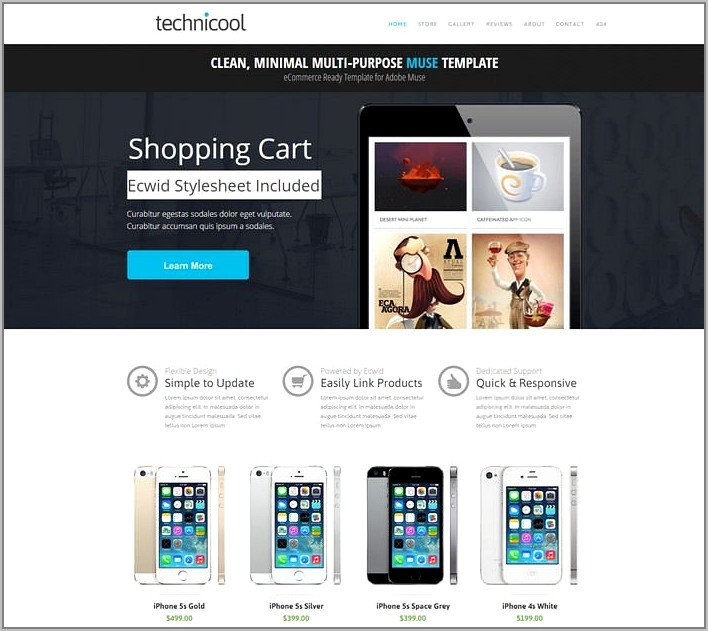 Technicool Muse Ecommerce Template