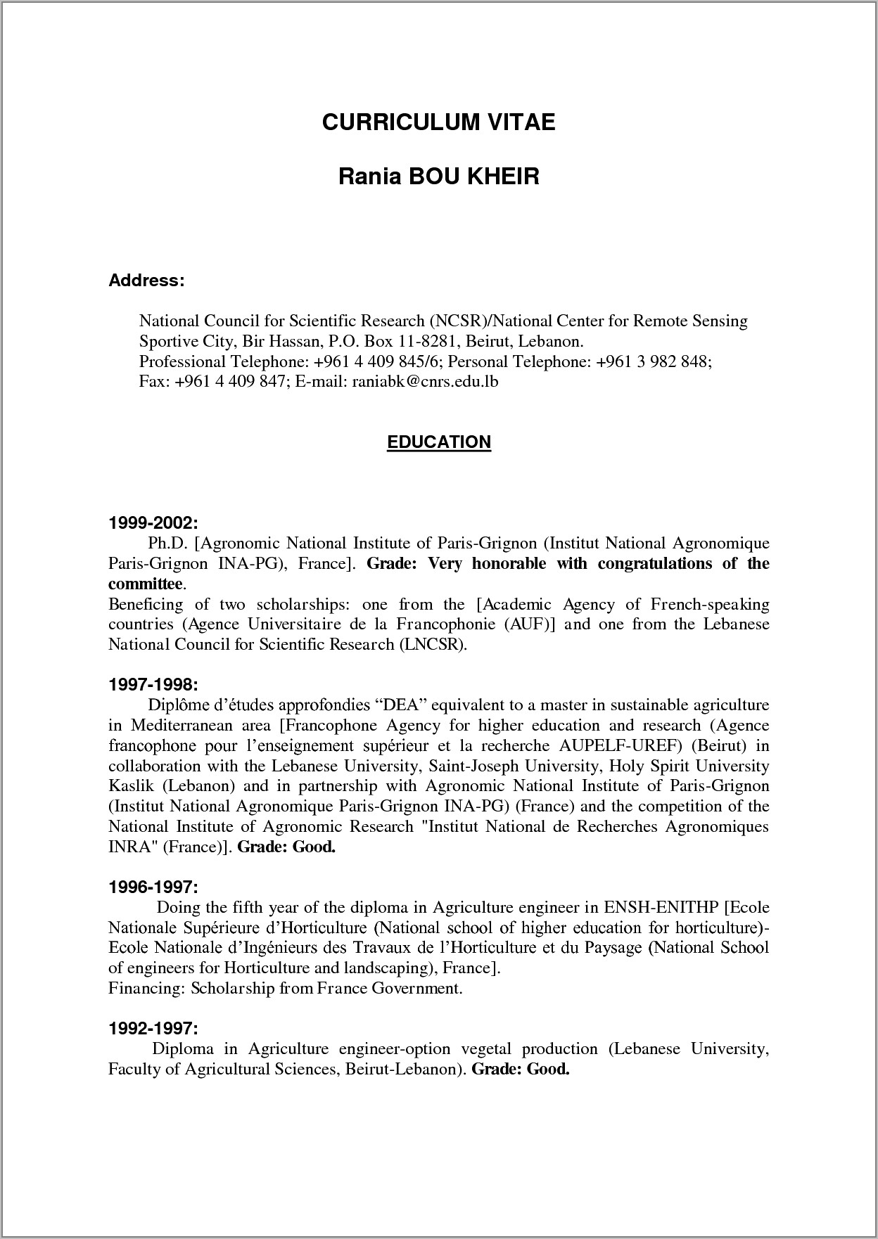 Teenager First Job Resume Examples