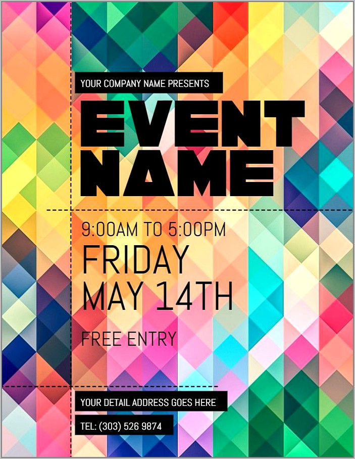 Template Event Flyer Free