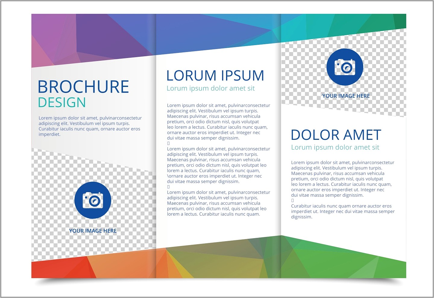 Template For A4 Tri Fold Brochure