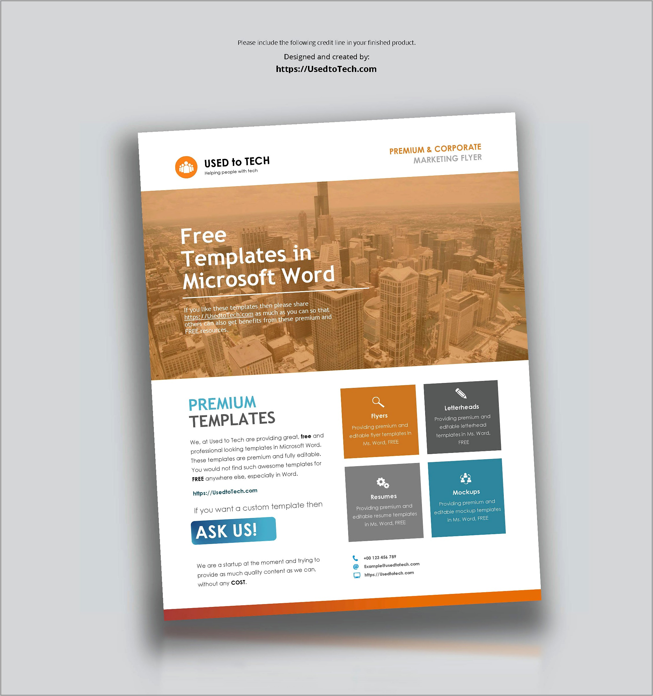 Template For Brochure Microsoft Word