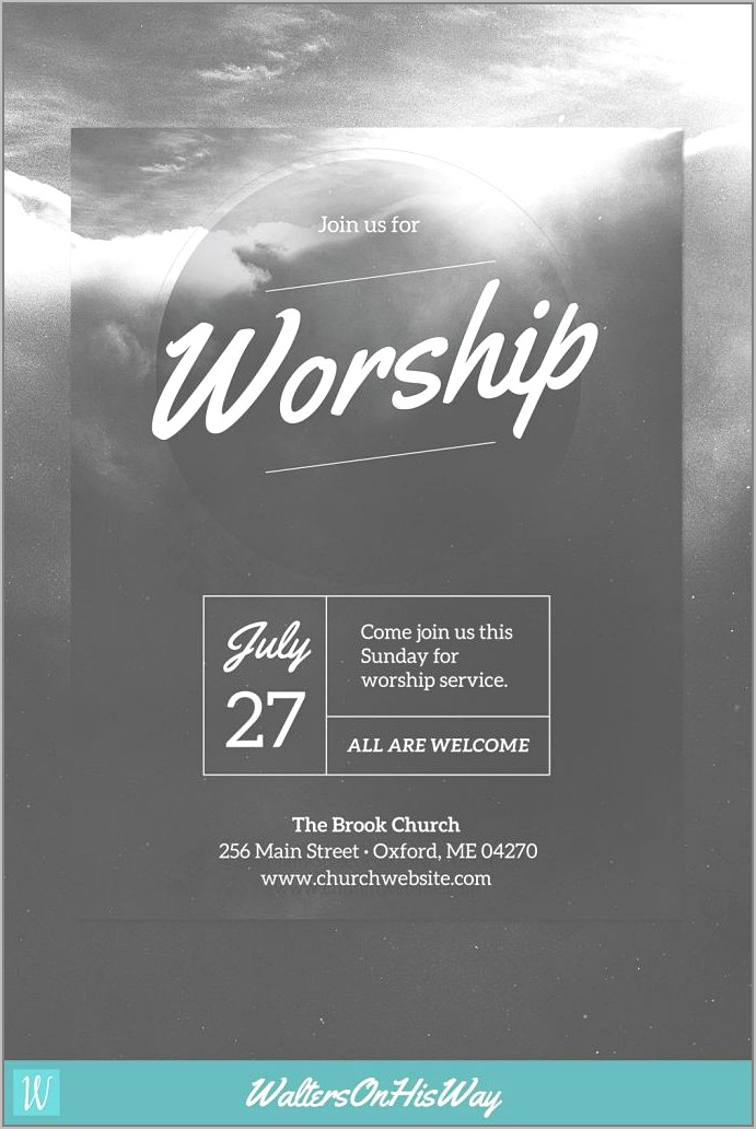 Template For Church Event Flyer