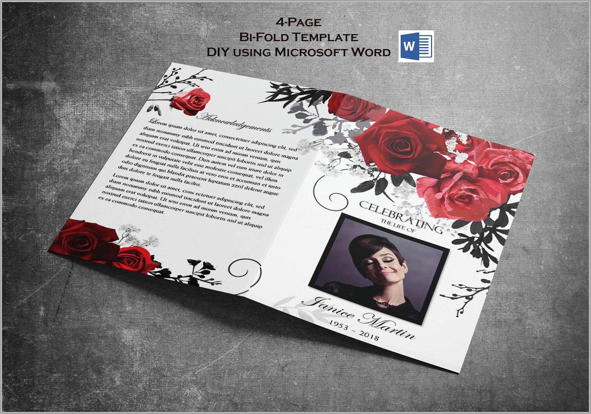 Template For Funeral Program On Word