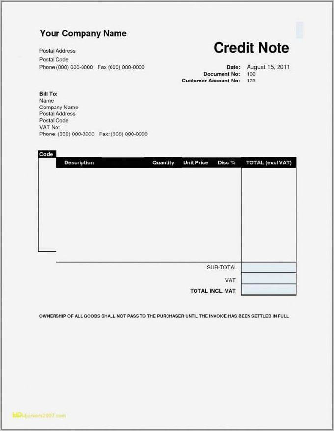 Template For Invoices Microsoft Office