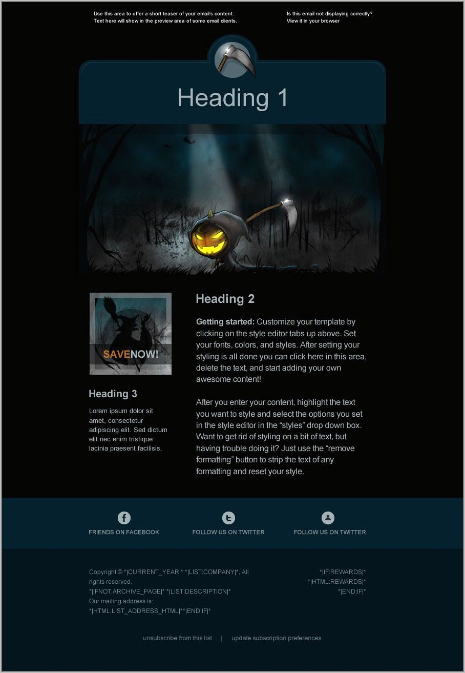 Template For Mailchimp Free