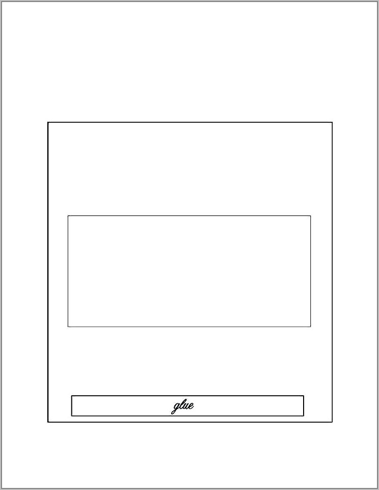 Template For Miniature Candy Bar Wrappers