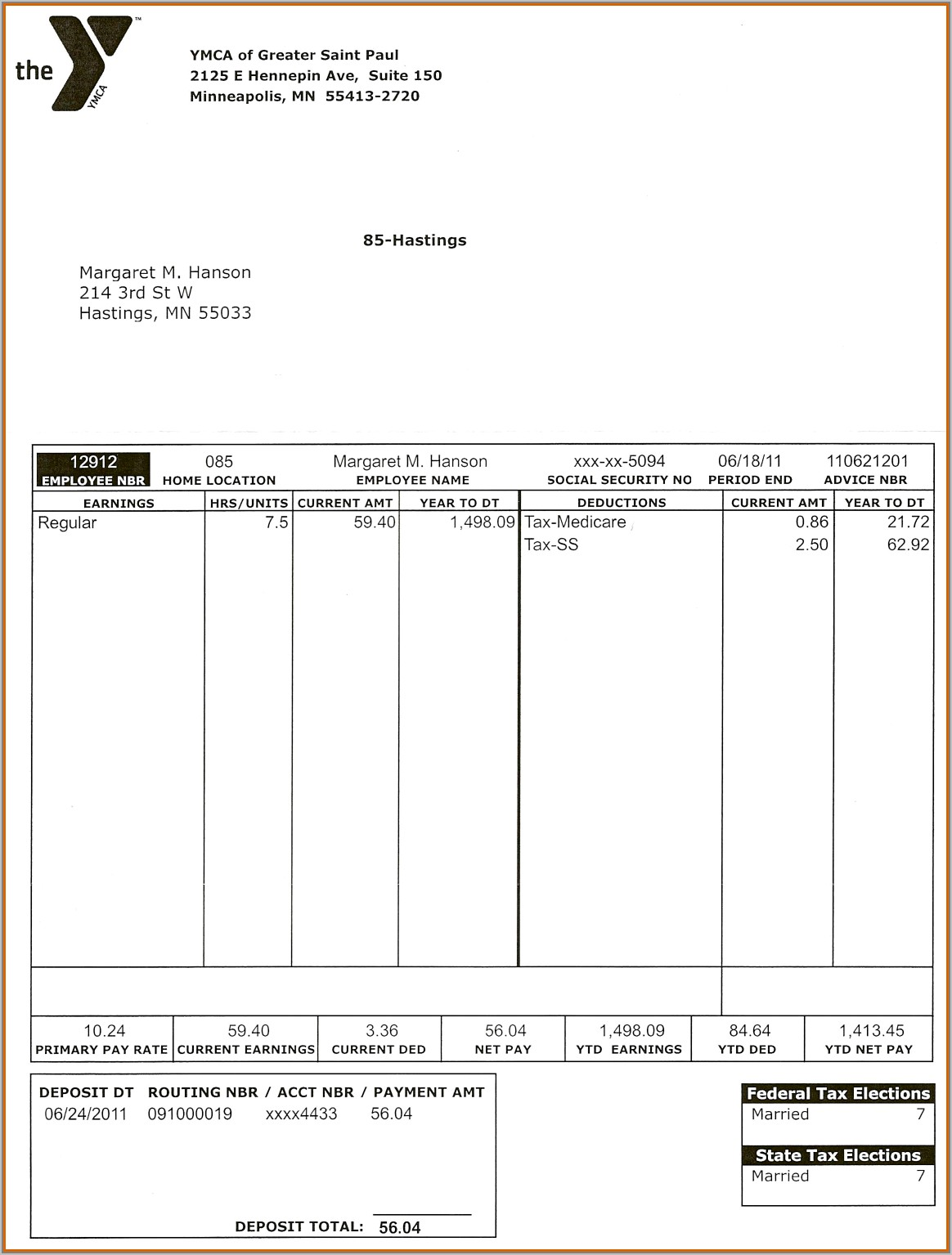Template For Pay Stubs