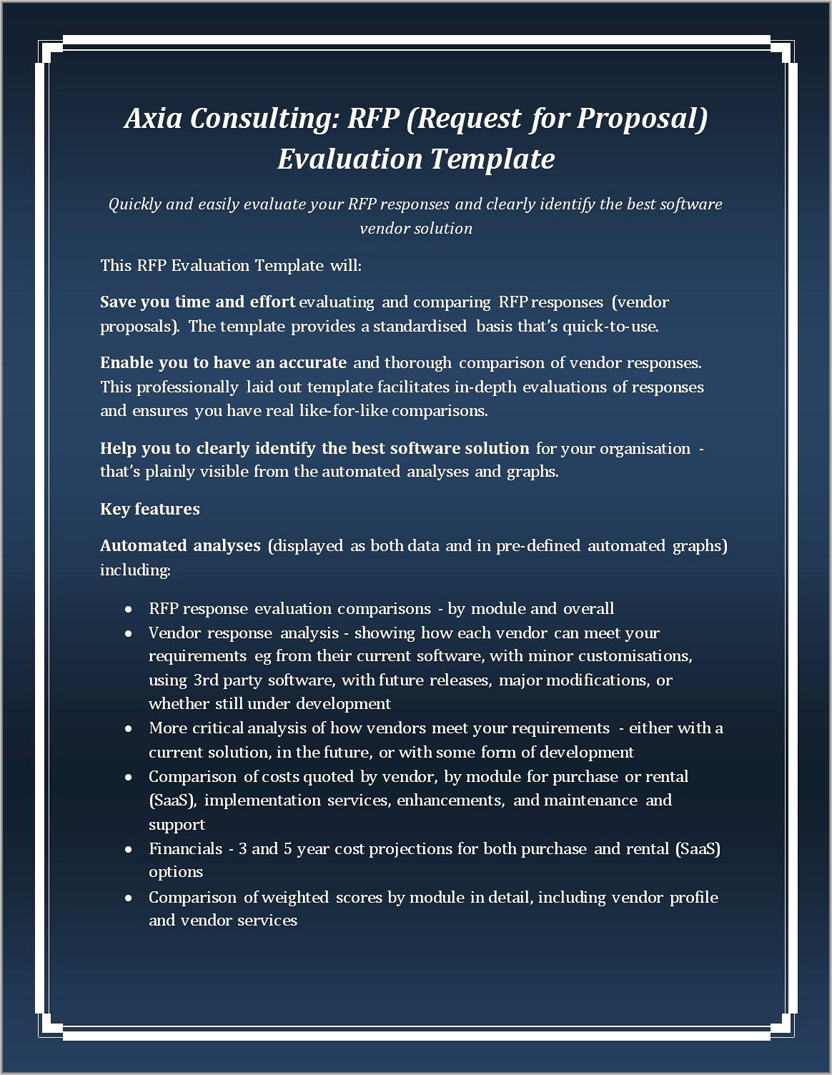 Template For Rfp Evaluation