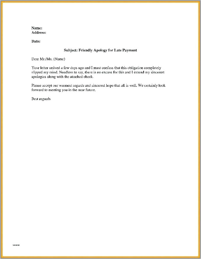 Template Letter For Outstanding Invoice