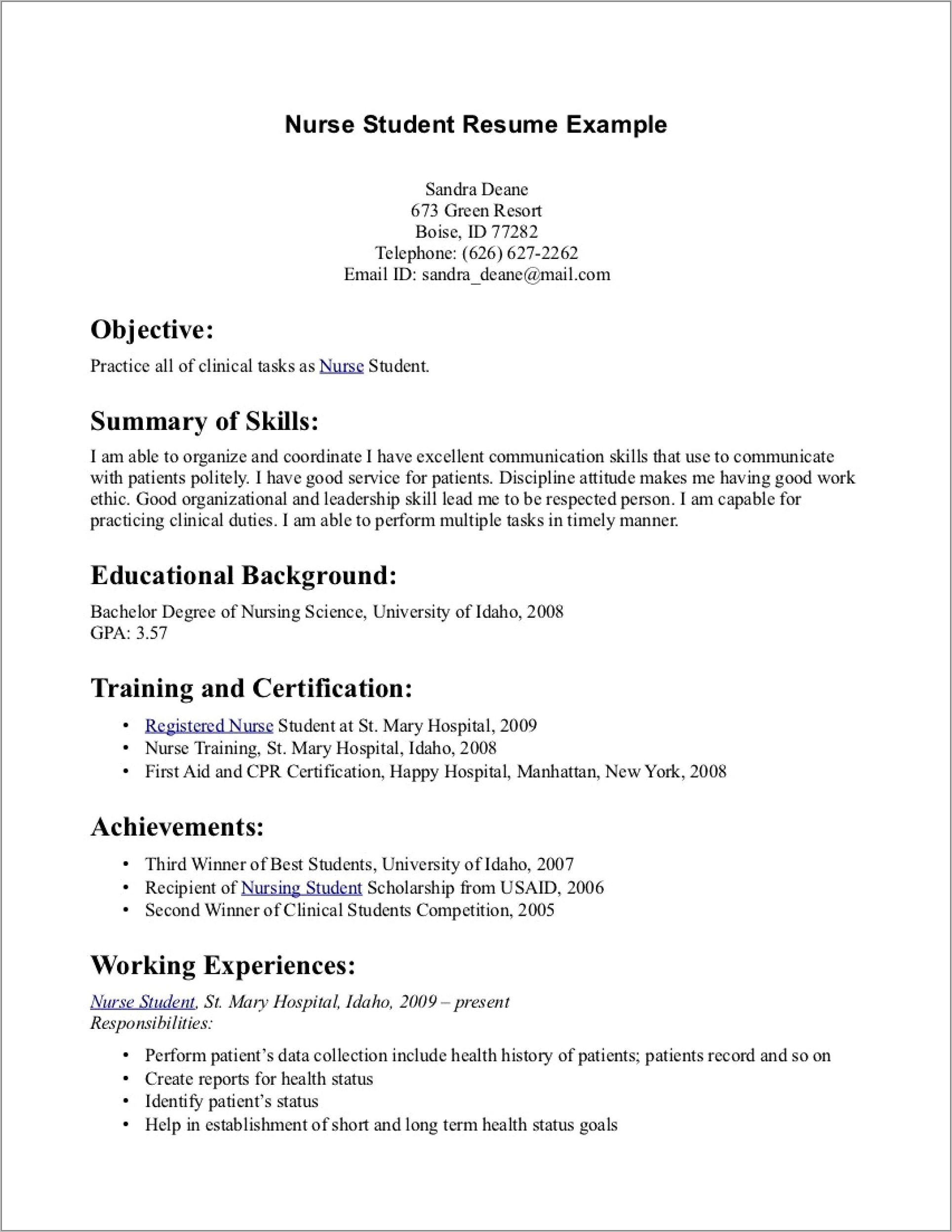 Templates For Job Resumes