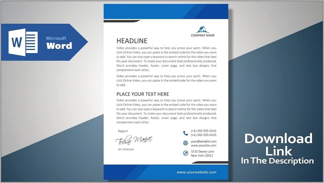 Templates For Letterhead In Word