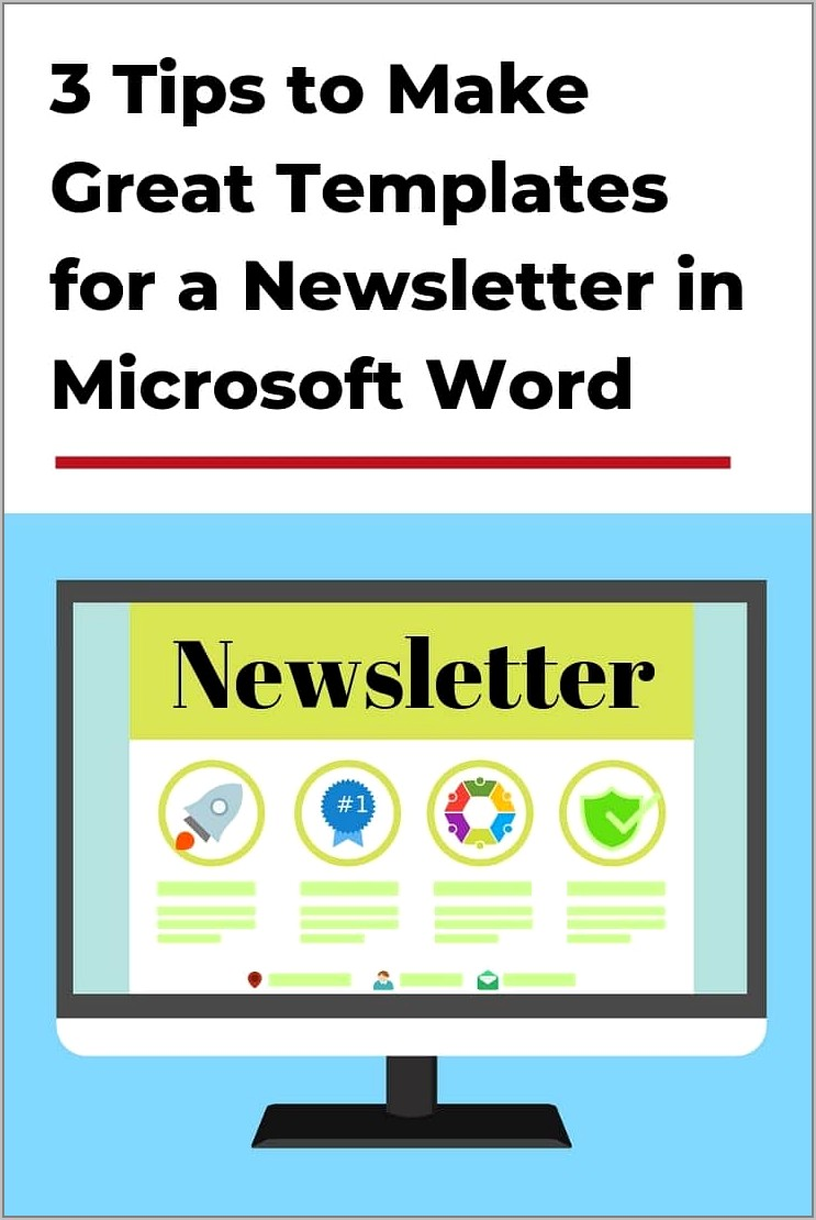 Templates For Newsletter In Word