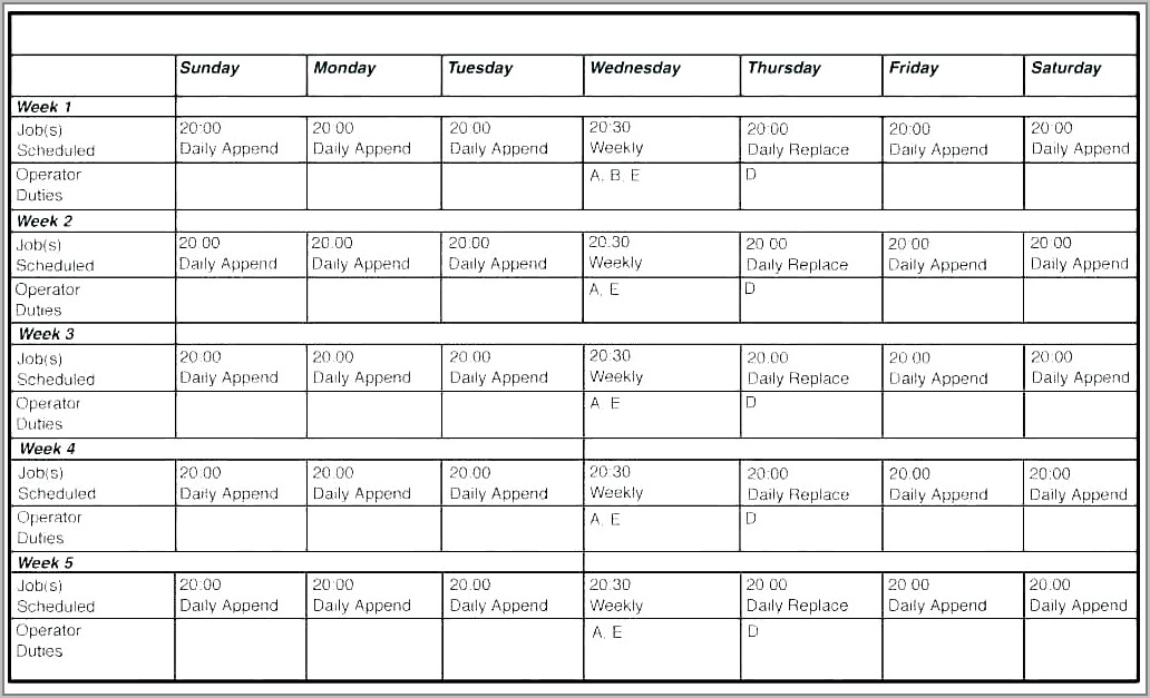 Templates For Scheduling Employees