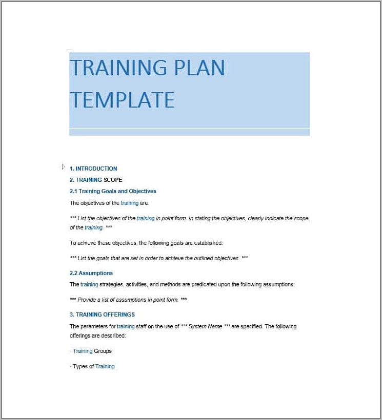 Templates For Writing Training Manuals