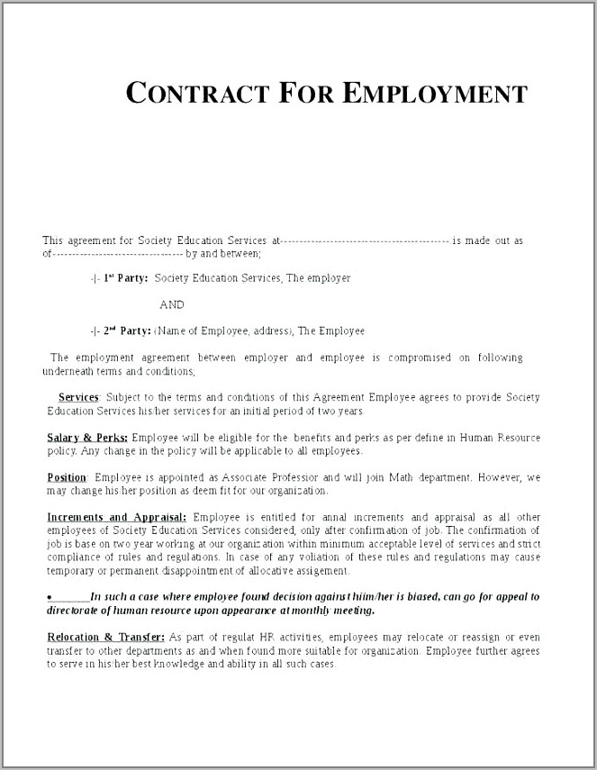 Temporary Employment Contract Sample Philippines
