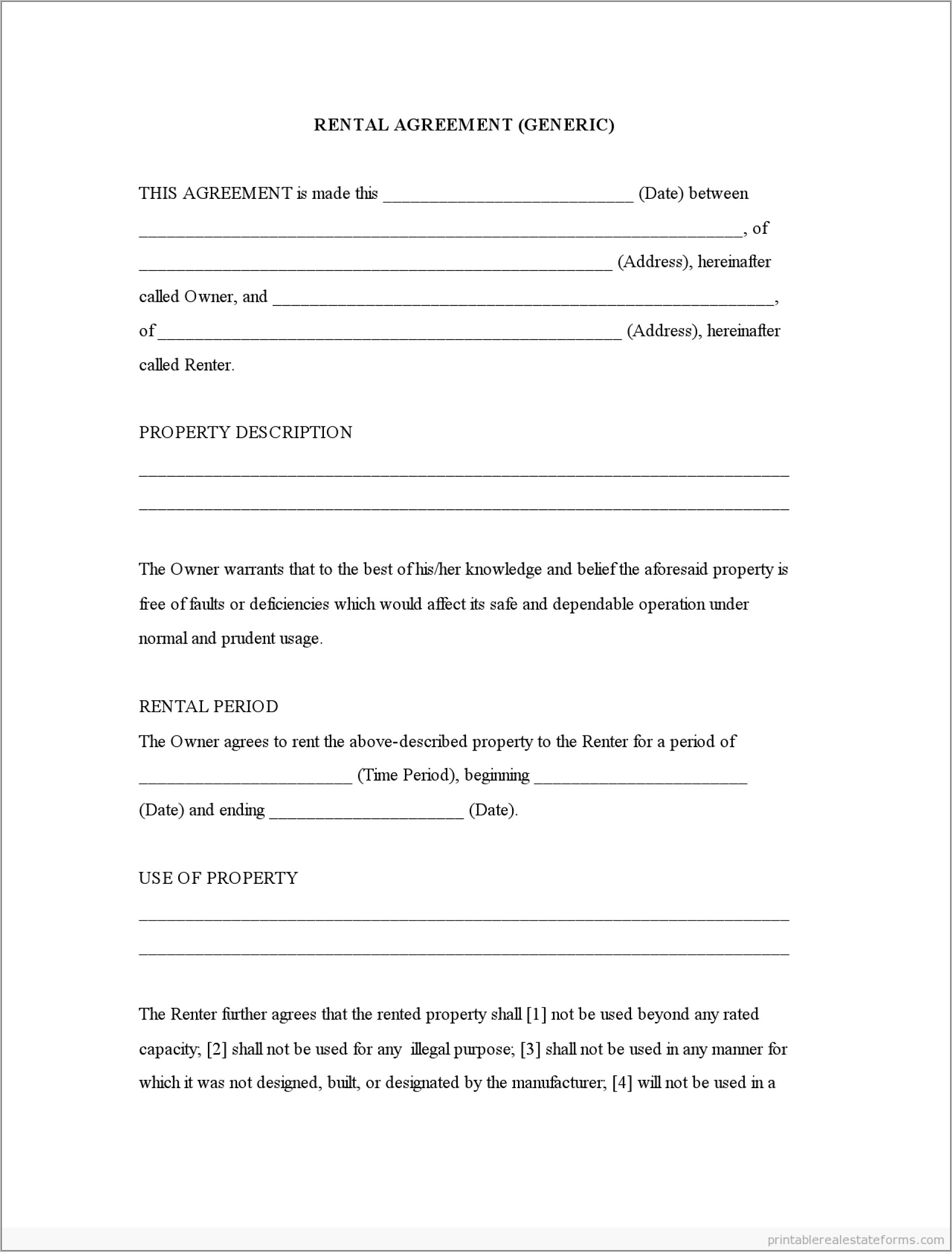 Tenancy Agreement Template Free Download Malaysia