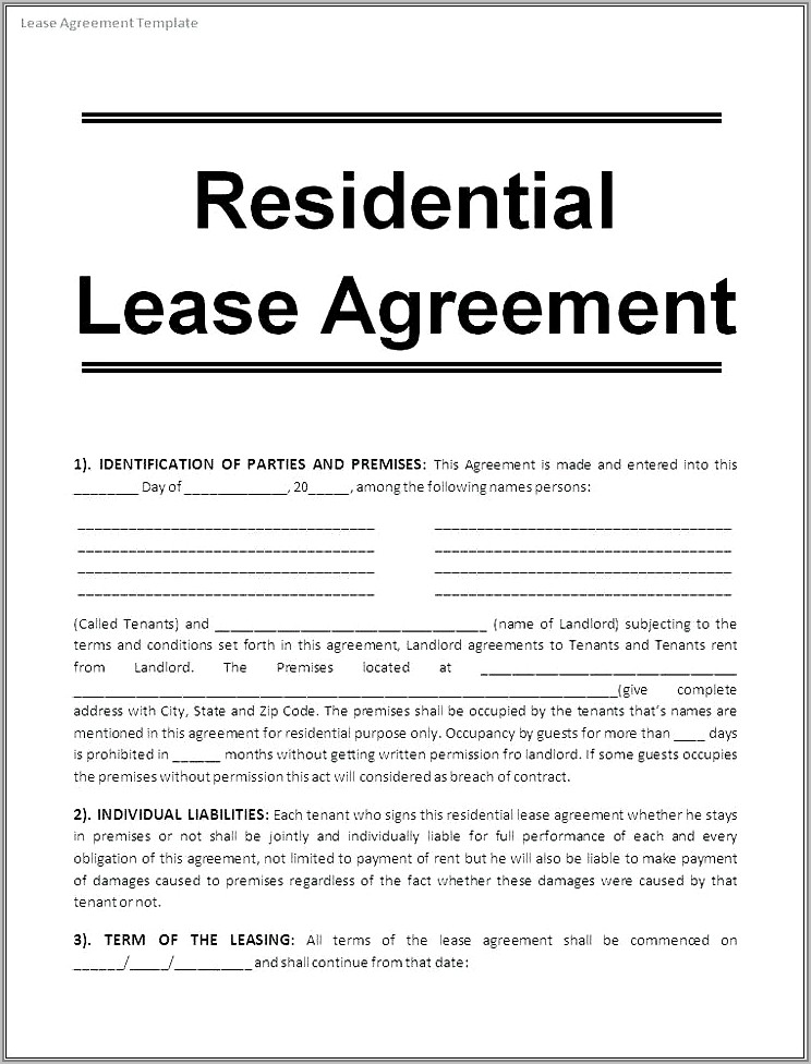 Tenancy In Common Agreement Template Free