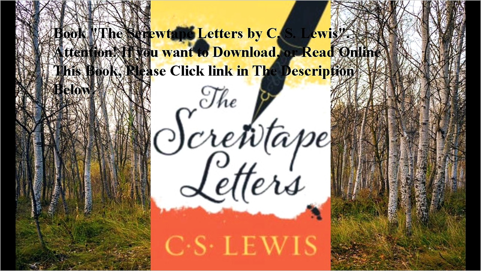 The Screwtape Letters Ebook Download
