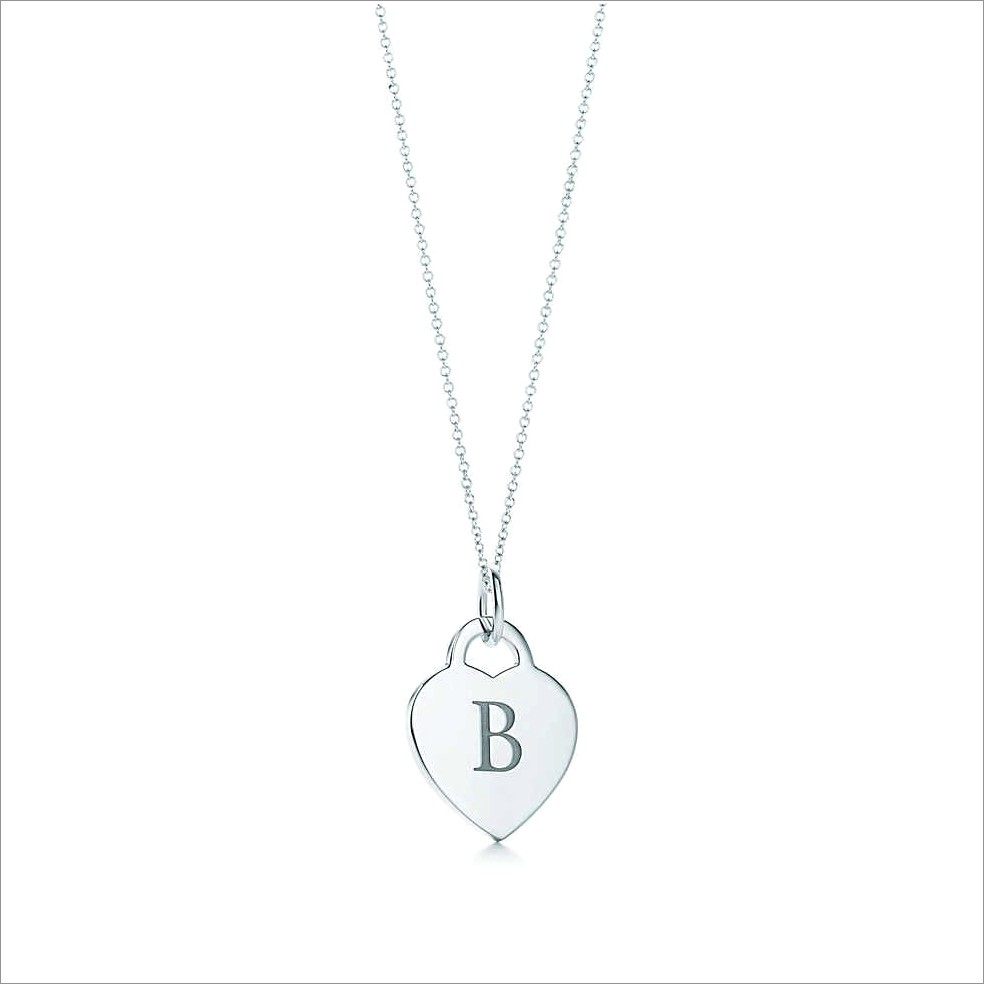 Tiffany And Co Letter Necklace