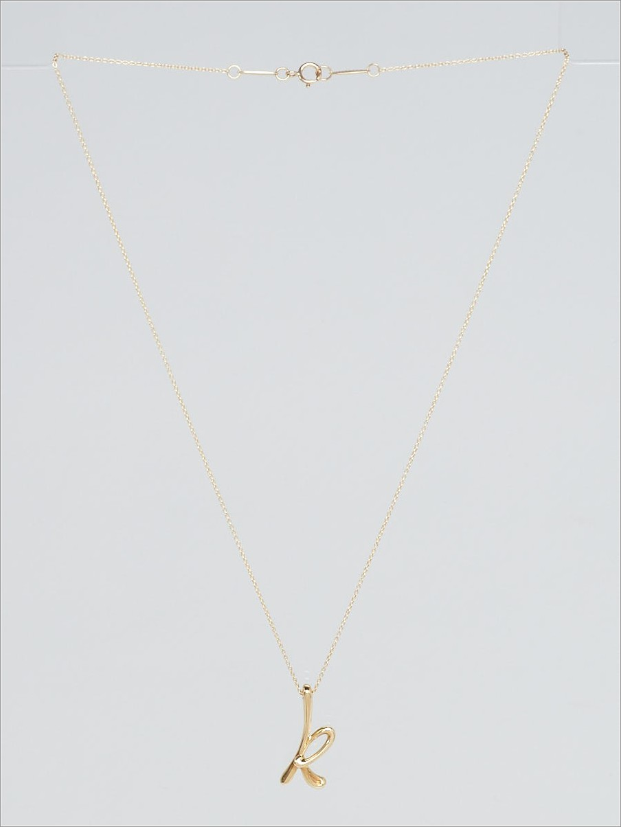 Tiffany Gold Letter Necklace
