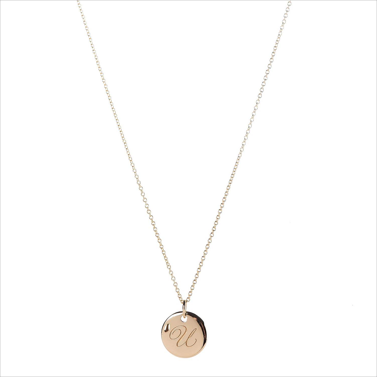 Tiffany Letter Pendant Necklace