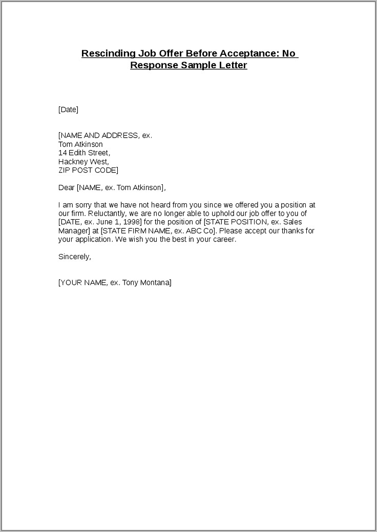 Timeshare Cancellation Letter Example