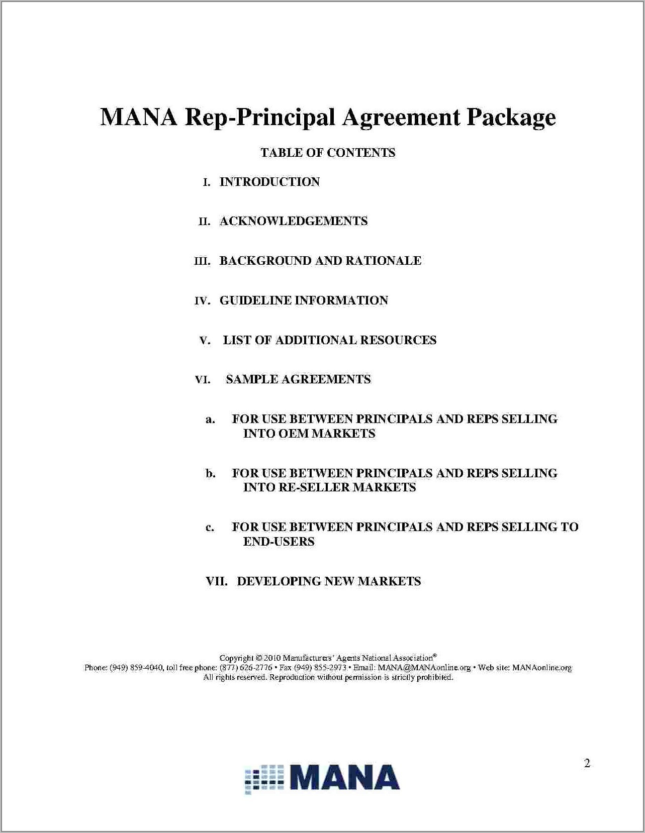 Toll Manufacturing Agreement Template