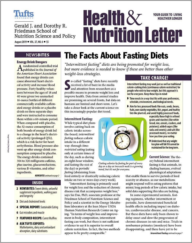 Tufts Health And Nutrition Letter Subscription
