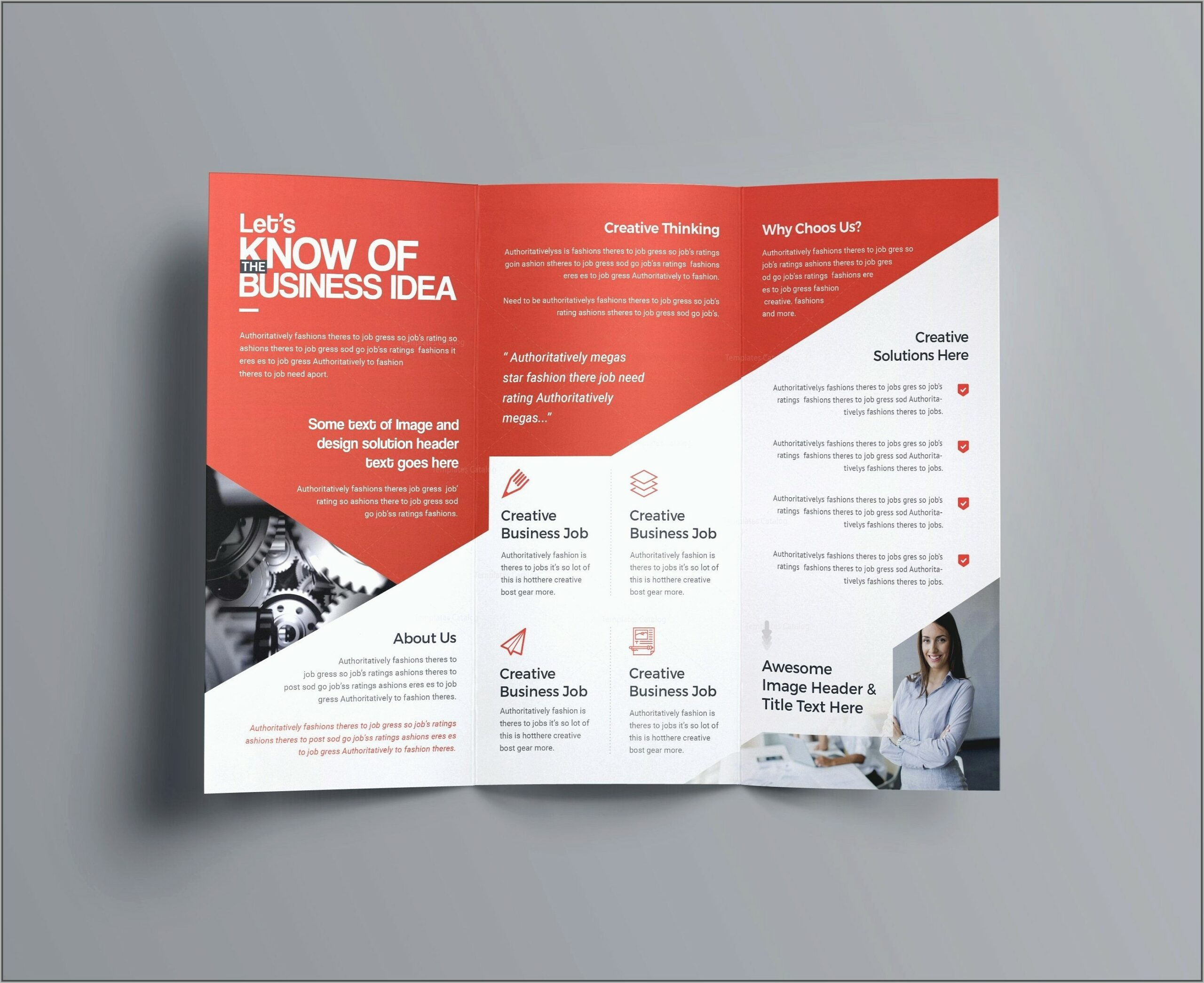 Two Fold Brochure Template Doc