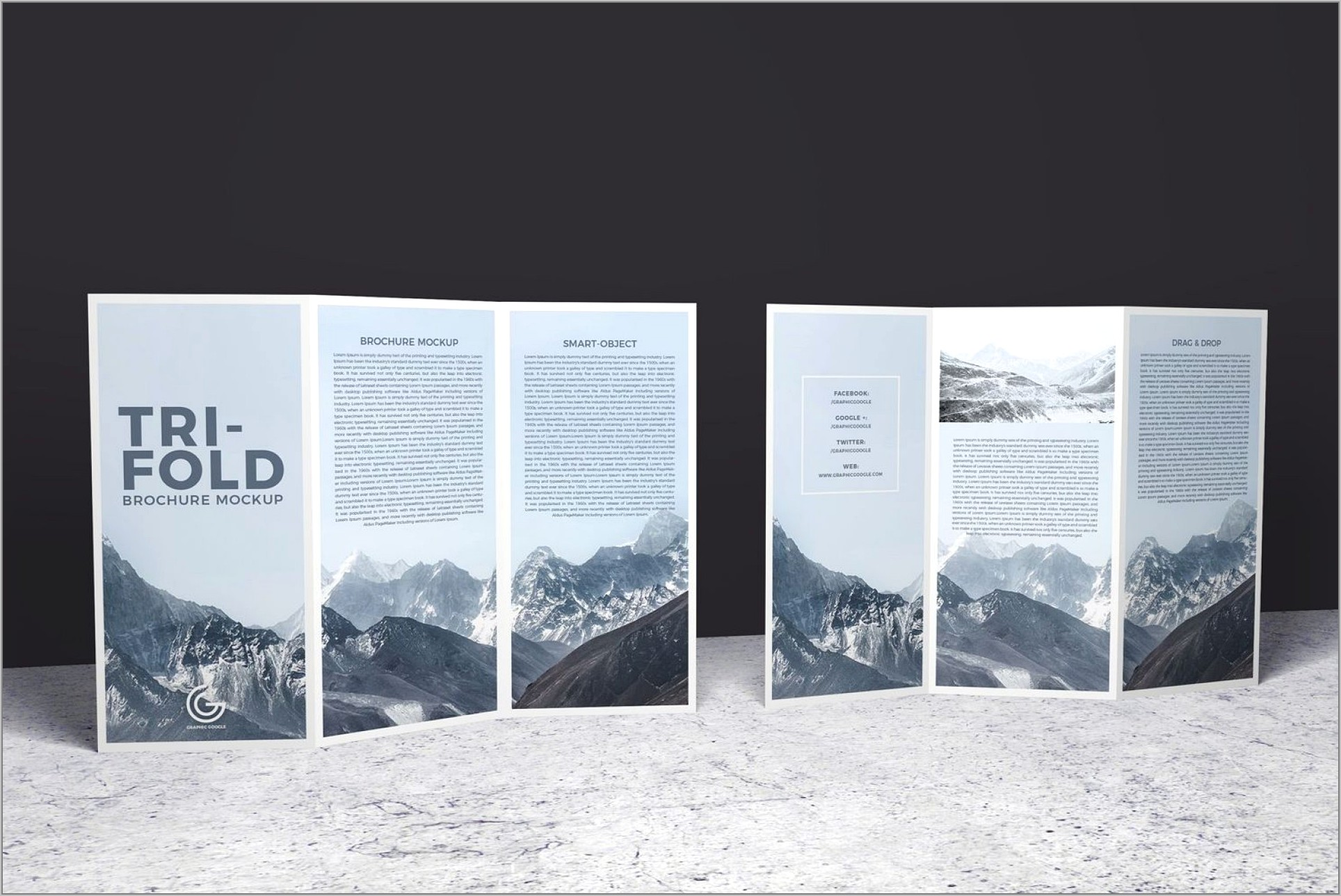 Two Fold Brochure Template Indesign