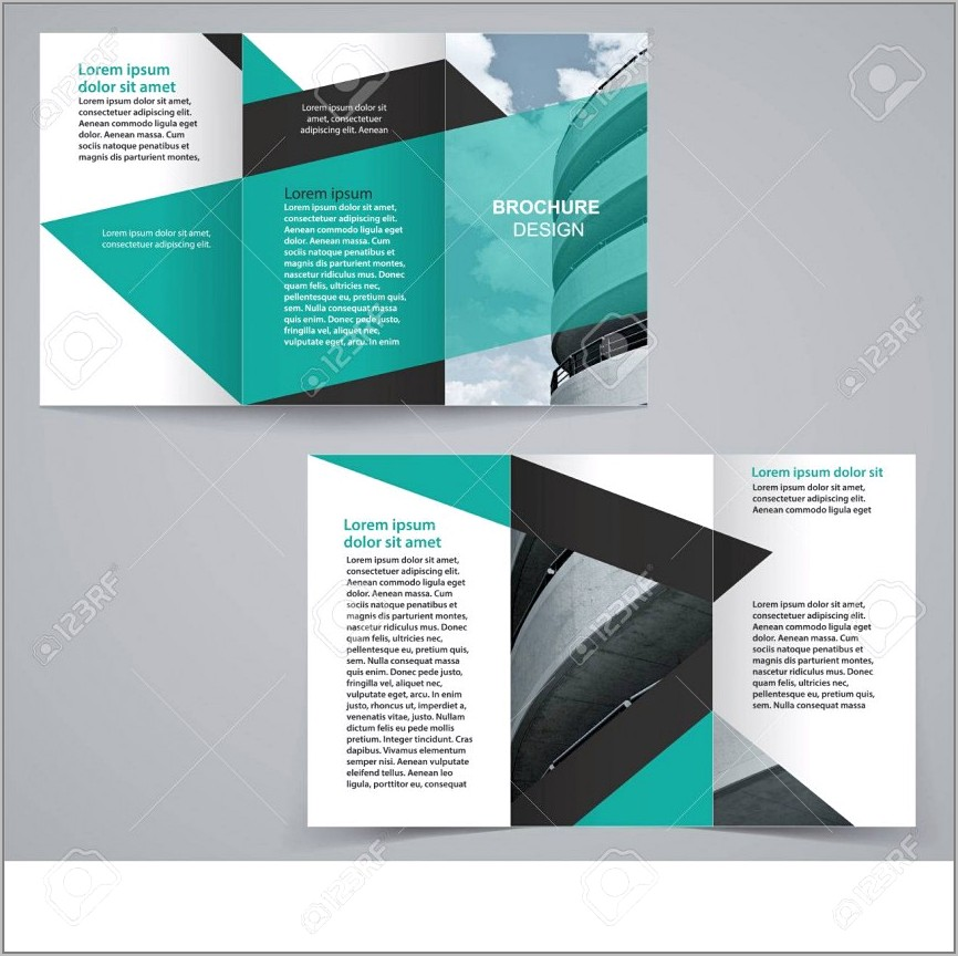 Two Sided Brochure Template Indesign