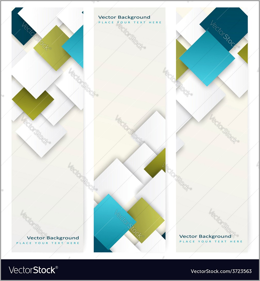 Vertical Banner Template Background Free Vector Download